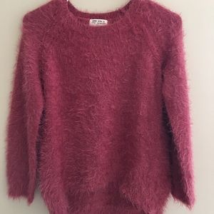 Furry knitted Zara pullover